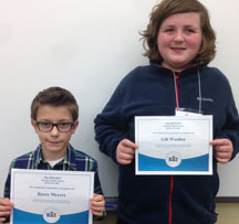 Allendale Spelling Bee Winner & Runner-Up