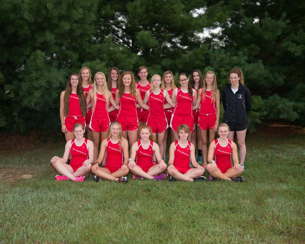 2016-2017 Girls Cross Country Team