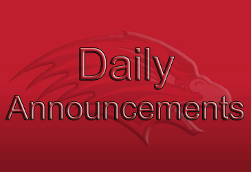 HS Daily Announcements