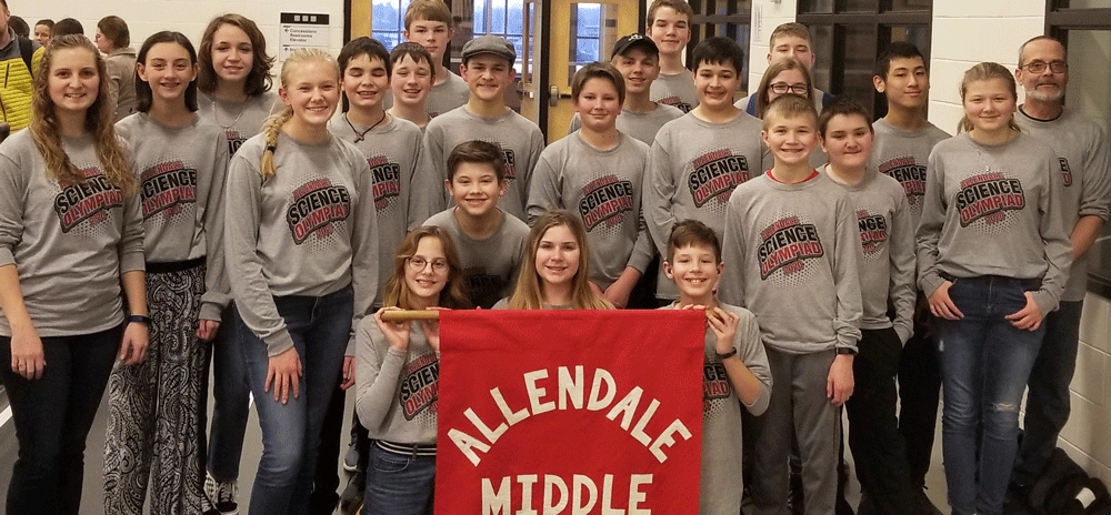 MS Science Olympiad team